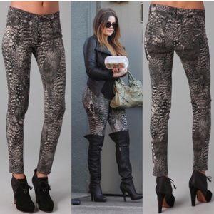 Rag & bone feather print leggings jeans